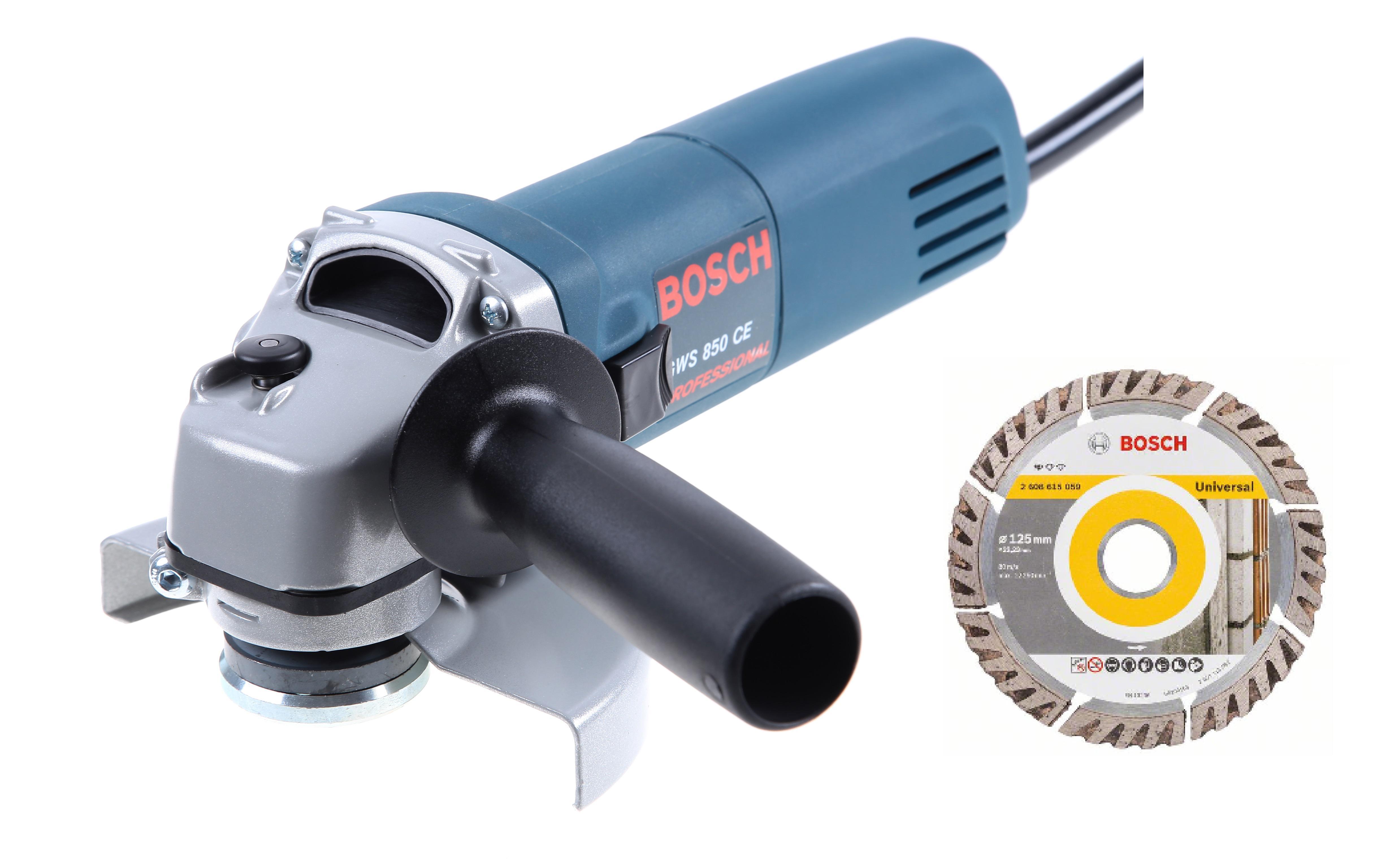 Набор Bosch УШМ (болгарка) gws 850 ce (0.601.378.792) +Круг алмазный 2608615059 болгарка bosch gws 1000