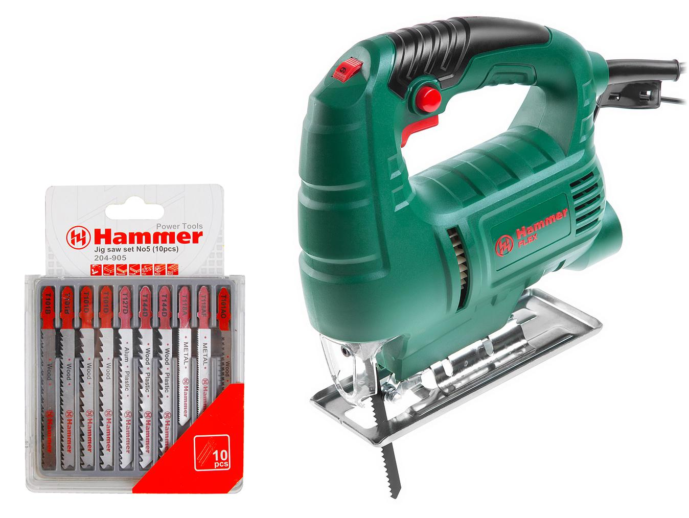 Набор Hammer Лобзик lzk550l + набор пилок 204-905 hammer lzk550l