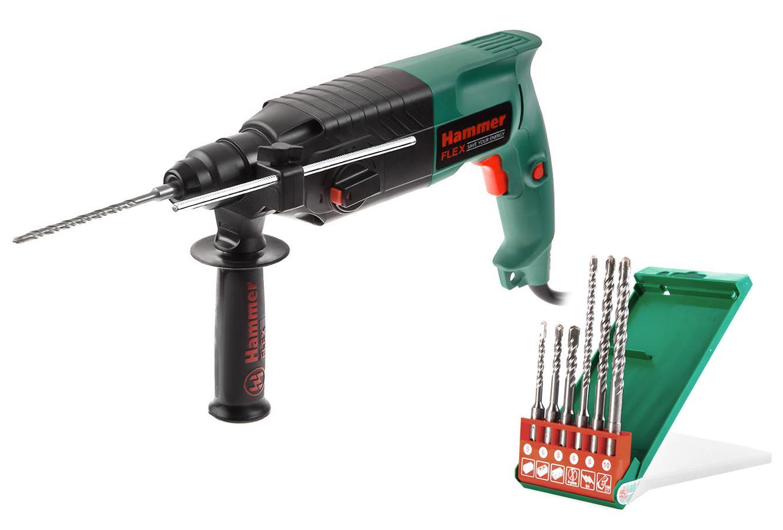 Набор Hammer Перфоратор prt620le + Набор буров 201-902 набор буров hammer 201 902 dr sds set no2