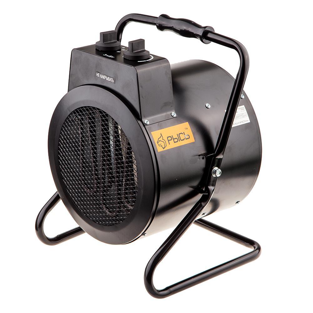 Тепловая пушка электрическая РЫСЬ ПТ-3000 тепловая пушка рысь пт 3000 40с 3квт тэн