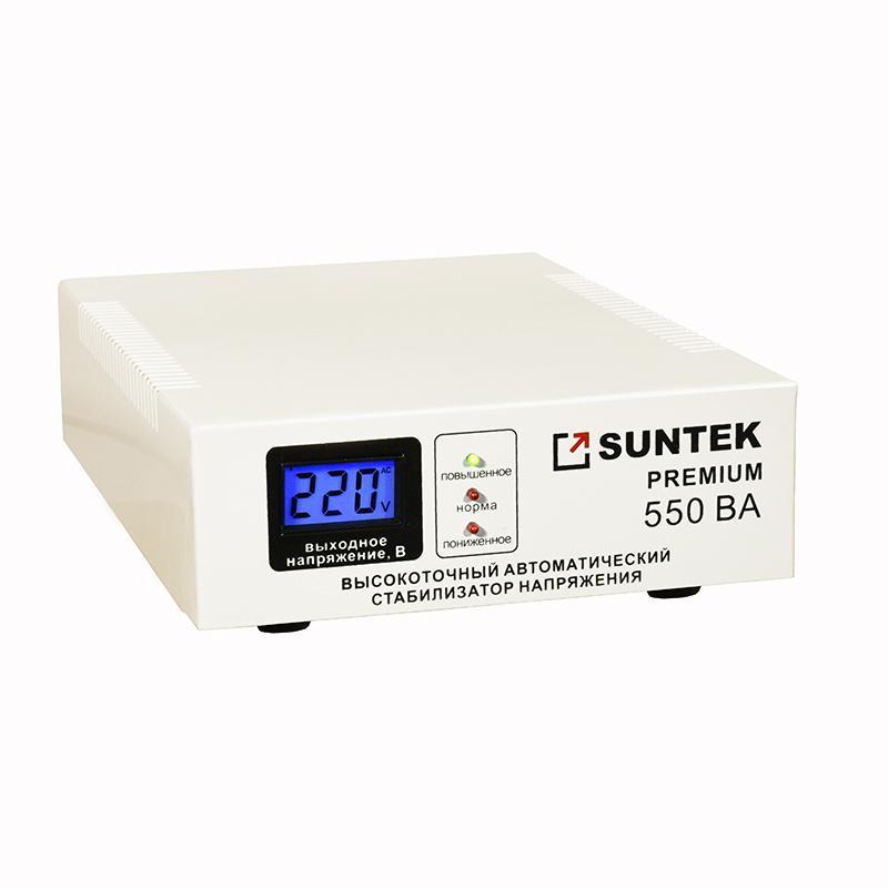 Купить со скидкой Стабилизатор напряжения Suntek 550 premium 220/110