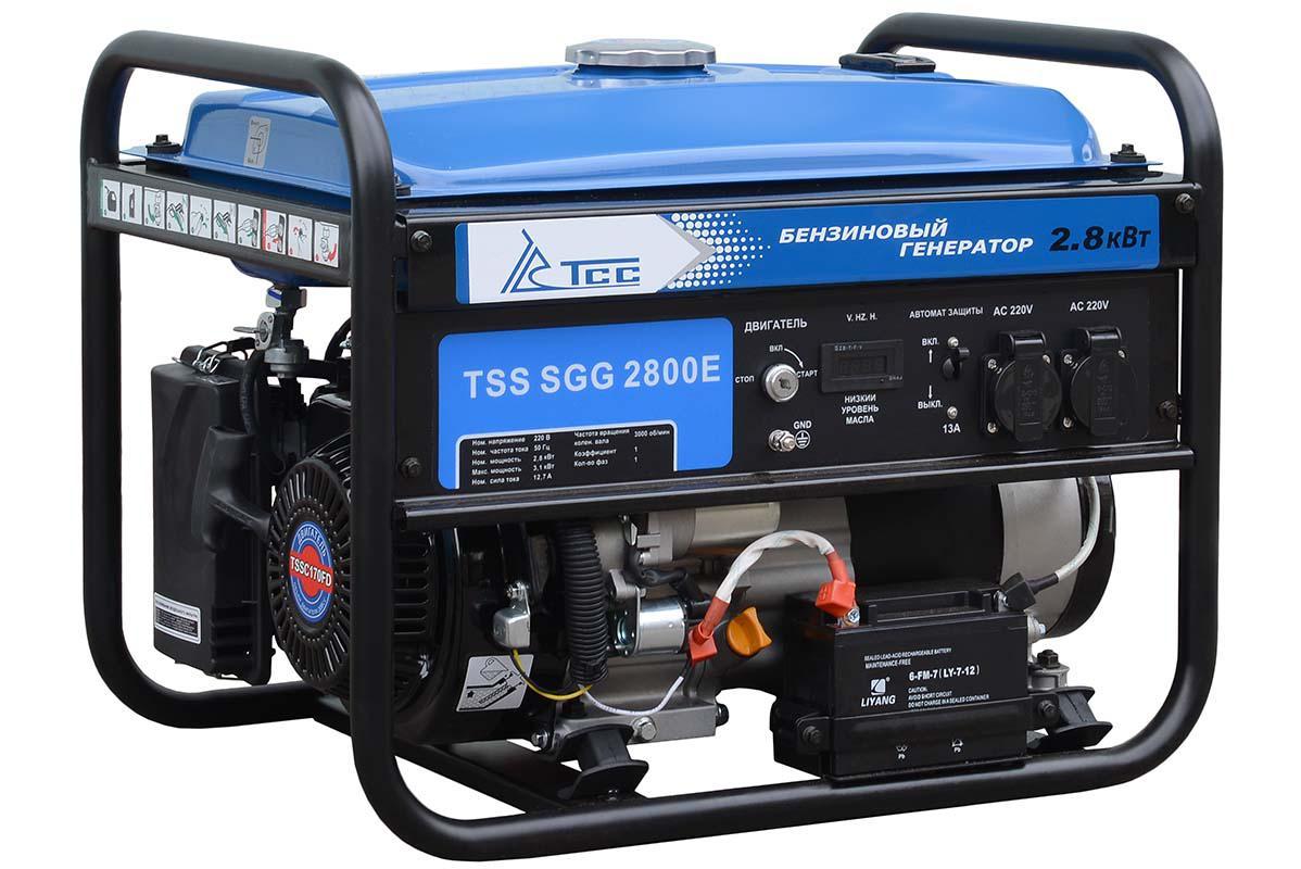 Бензиновый генератор ТСС Sgg 2800e генератор бензиновый ручной и эл пуск 2800 2500вт зубр зэсб 2800 э