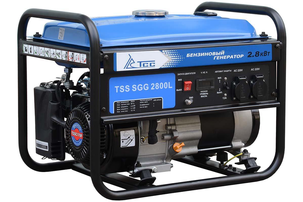 Бензиновый генератор ТСС Sgg 2800l генератор бензиновый ручной и эл пуск 2800 2500вт зубр зэсб 2800 э