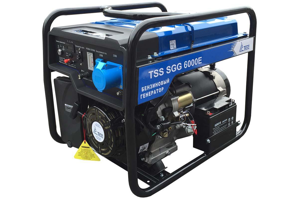 Бензиновый генератор ТСС Sgg 6000 e бензиновый генератор тсс sgg 7500ен