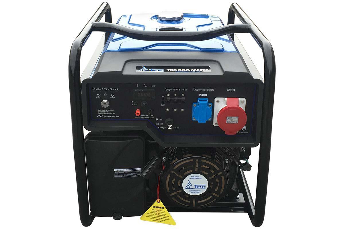 Бензиновый генератор ТСС Sgg 6000 e3 бензиновый генератор тсс sgg 7500ен