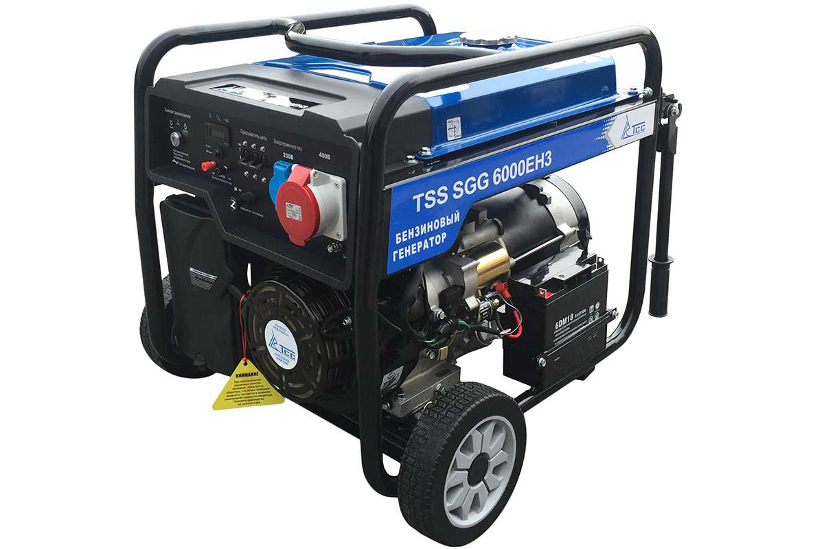 Бензиновый генератор ТСС Sgg 6000 eh3 бензиновый генератор тсс sgg 7500ен