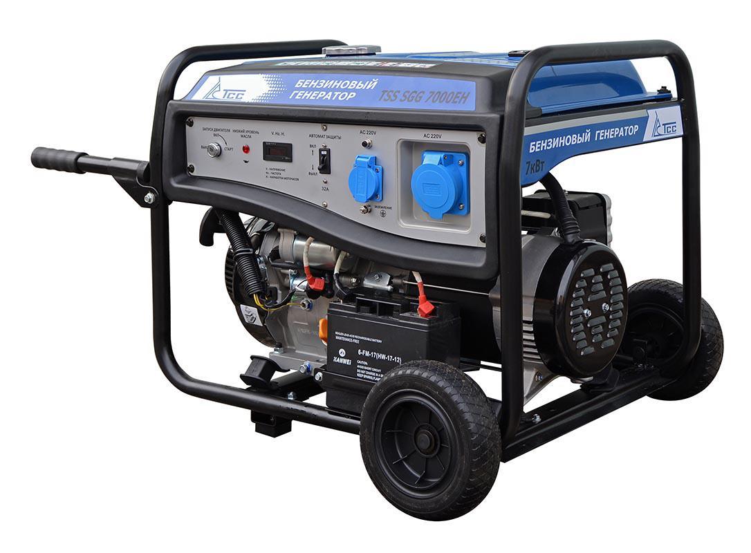 Бензиновый генератор ТСС Sgg-7000ЕН генератор бензиновый tss sgg 7500e