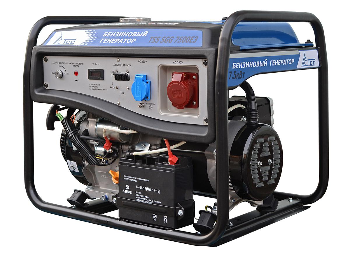 Бензиновый генератор ТСС Sgg-7500Е3 генератор бензиновый tss sgg 7500e
