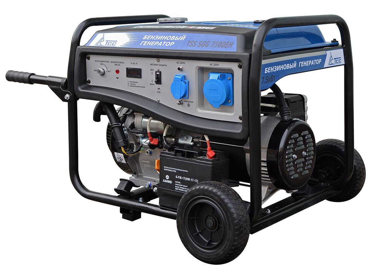 Бензиновый генератор ТСС Sgg-7500ЕН бензиновый отбойный молоток тсс tss gjh95 207000