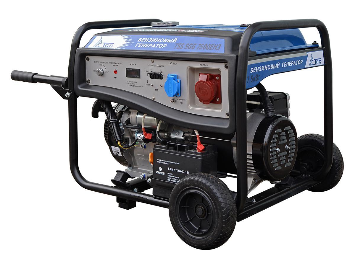 Бензиновый генератор ТСС Sgg-7500ЕН3 генератор бензиновый tss sgg 5000eh