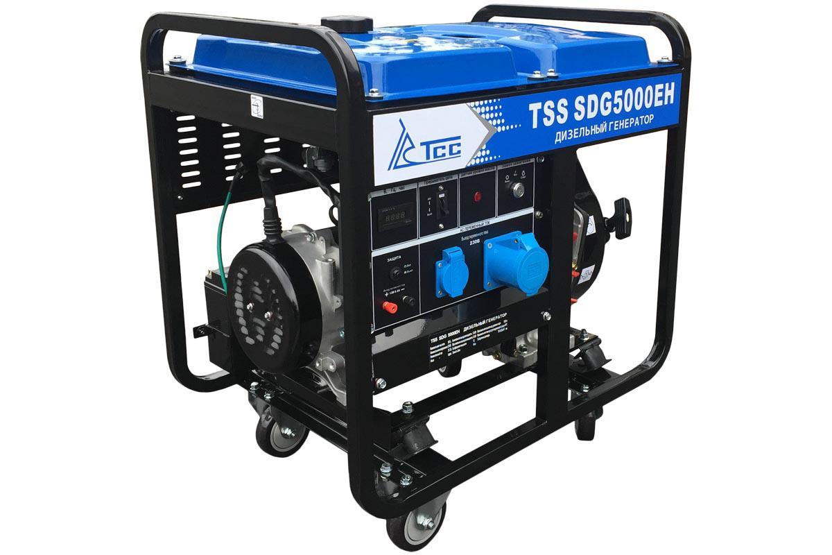 Дизельный генератор ТСС Sdg 5000eh генератор бензиновый tss sgg 5000eh