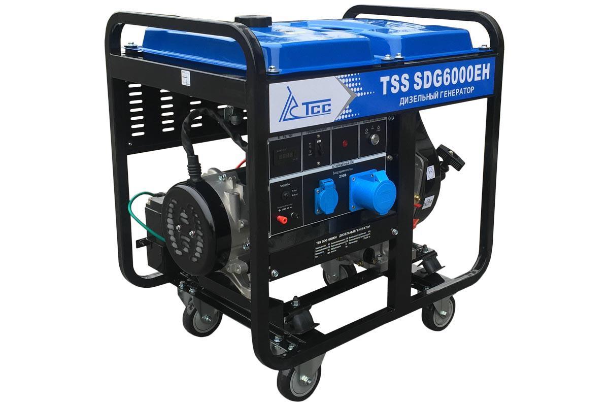 Дизельный генератор ТСС Sdg 6000eh генератор дизельный hyundai dhy 6000 le колеса