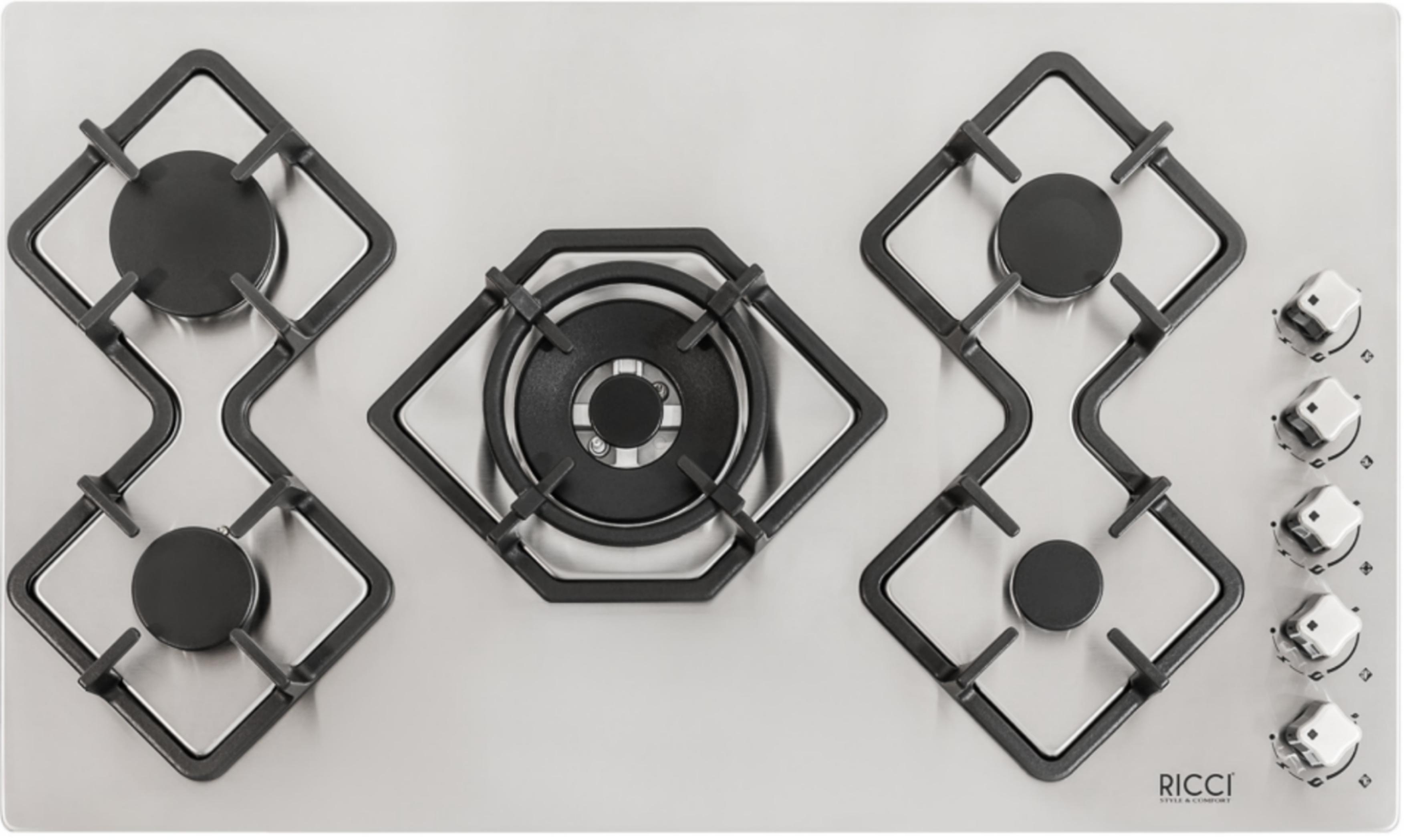 Встраиваемая газовая варочная панель Ricci Rgn-КА5041ix