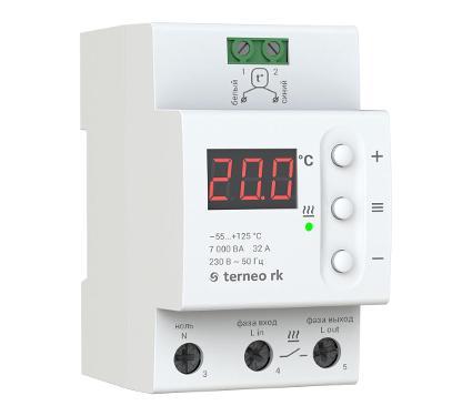 Терморегулятор TERNEO RK белый