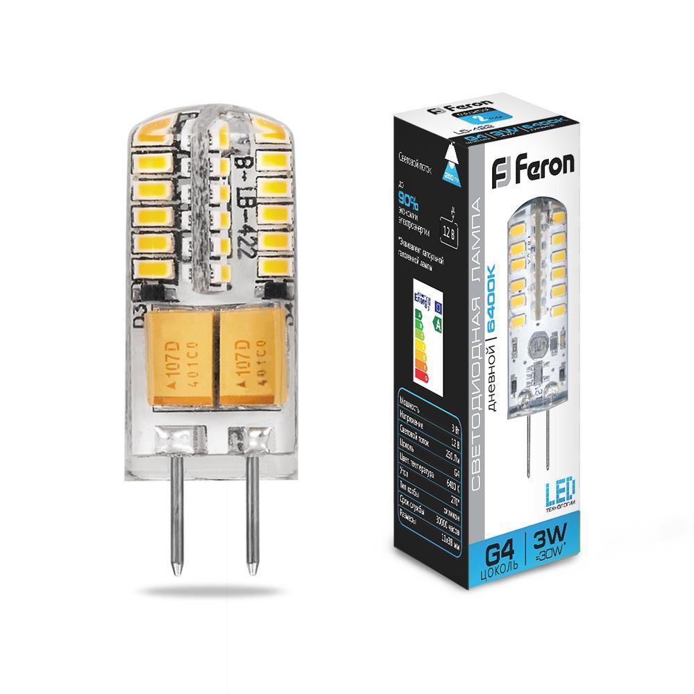 Лампа светодиодная Feron 25533 лампа галогенная акцент jc 12в 20w g4 капсульная прозрачная