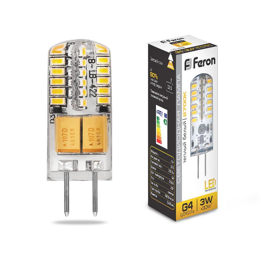 Лампа светодиодная Feron 25531 лампа галогенная акцент jc 12в 20w g4 капсульная прозрачная