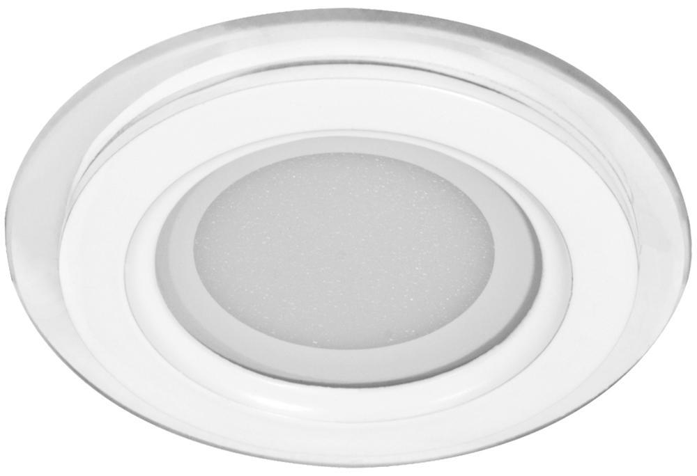 Светильник потолочный Feron 27851 панель светодиодная круглая llt rlp 8вт 160 260в 4000к 640лм 120 105 мм алюминий
