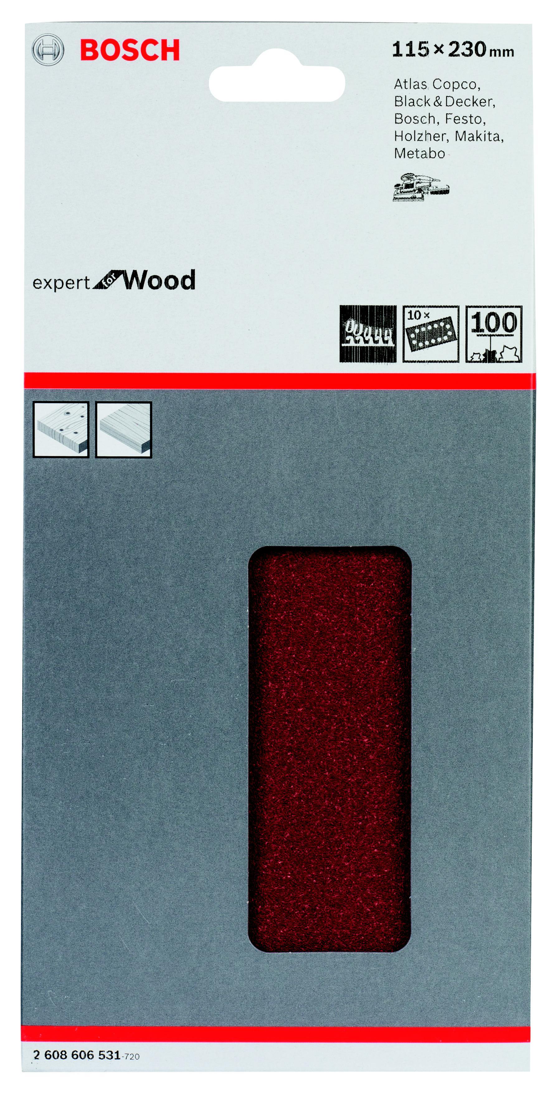 Лист шлифовальный Bosch 115Х230 k100 b.f.w+p (2.608.606.531) стоимость