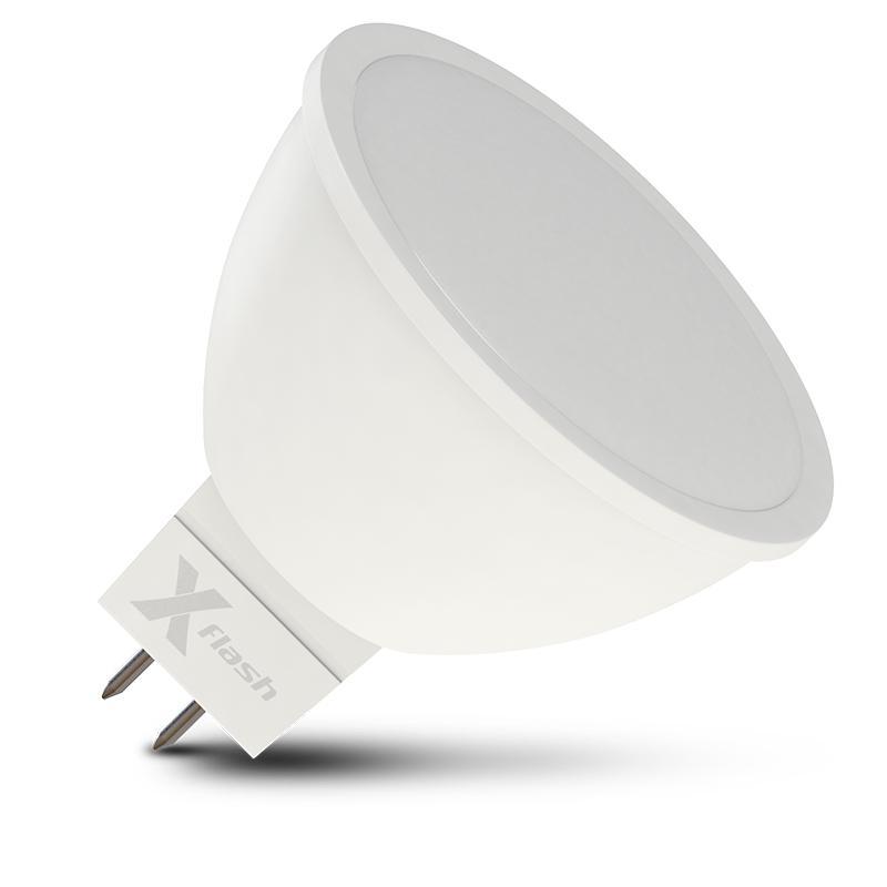 Лампа X-flash Xf-gu5.3-6w-3000k-230v лампочка x flash spotlight mr16 xf spl l gu5 3 6w 3000k 12v желтый свет линза 43507