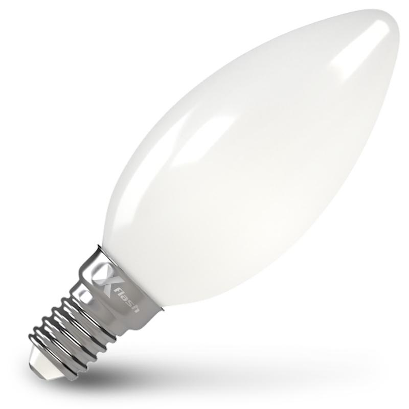 Лампа X-flash Xf-e14-flm-c35-4w-4000k-230v филаментная светодиодная лампа x flash xf e27 flm c35 4w 4000k 230v арт 48526