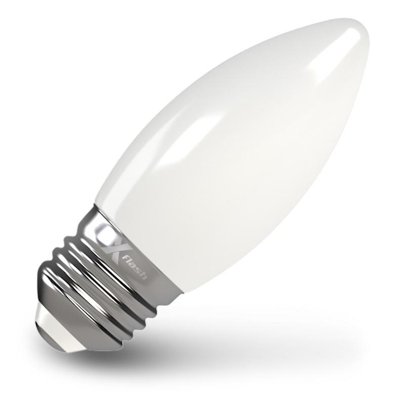 Лампа X-flash Xf-e27-flm-С35-4w-4000k-230v филаментная светодиодная лампа x flash xf e27 flm c35 4w 4000k 230v арт 48526