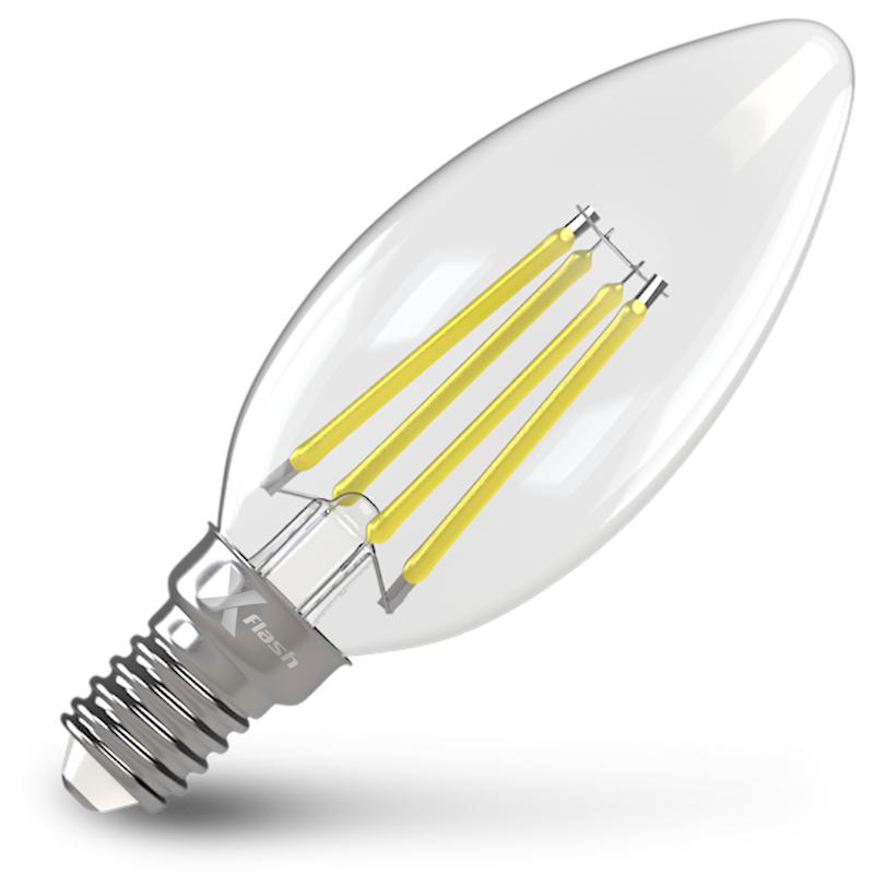 Лампа X-flash Xf-e14-flmd-c35-4w-2700k-230v smart sm407 01 c35