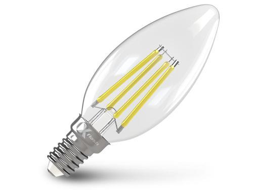Лампа светодиодная X-FLASH XF-E14-FLMD-C35-4W-2700K-230V