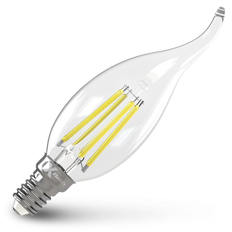 Лампа X-flash Xf-e14-fl-Сa35-4w-2700k-230v x flash лампа led x flash xf e27 fl с35 4w 2700k 230v арт 48861
