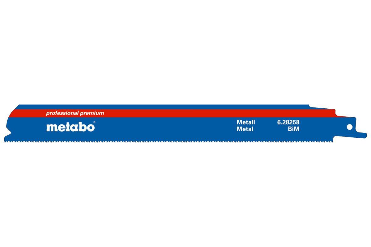 Пилки для лобзика Metabo 628258000 пилки для лобзика по металлу для прямых пропилов bosch t118a 1 3 мм 5 шт