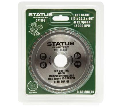 Диск пильный твердосплавный STATUS Ф110х22мм 40зуб. (TCT 40T)