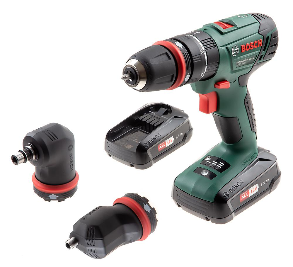 Дрель ударная Bosch 18v quick snap 2 bat (0.603.9a3.401) набор bosch рубанок gho 18 v li 0 601 5a0 300 адаптер gaa 18v 24