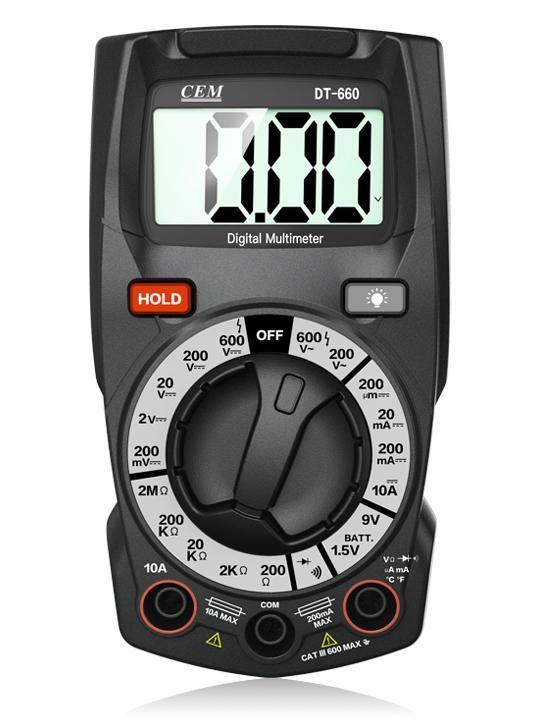Мультиметр Cem Dt-660 мультиметр цифровой cem la 1011