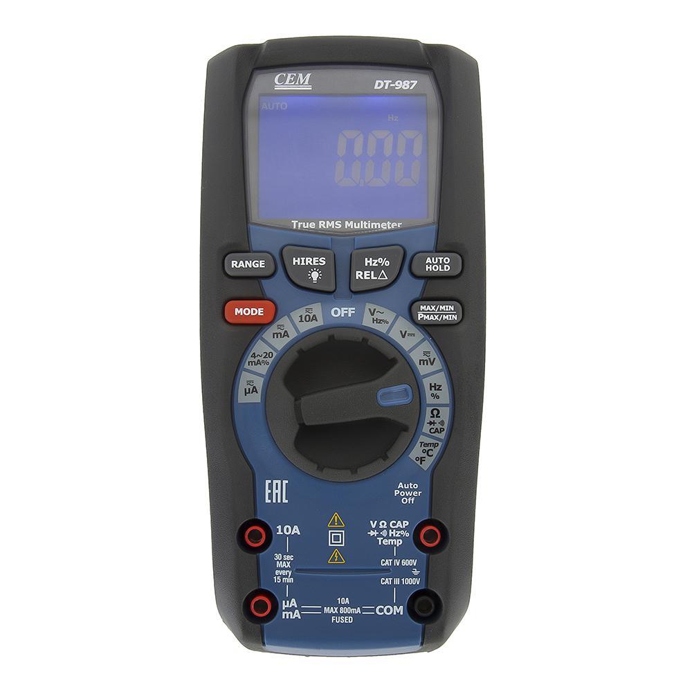 Мультиметр Cem Dt-987 мультиметр cem dt 932n цифровой true rms