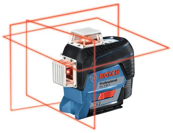 Уровень Bosch Gll 3-80c+bt 150+вкладк (0.601.063.r01) построитель плоскостей bosch gll 3 80