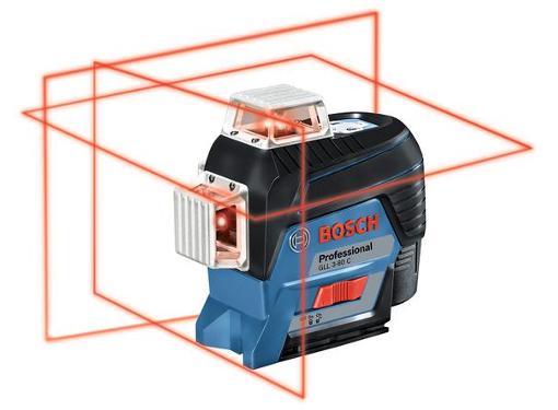 Уровень лазерный BOSCH GLL 3-80C+BT 150+вкладк (0601063R01)