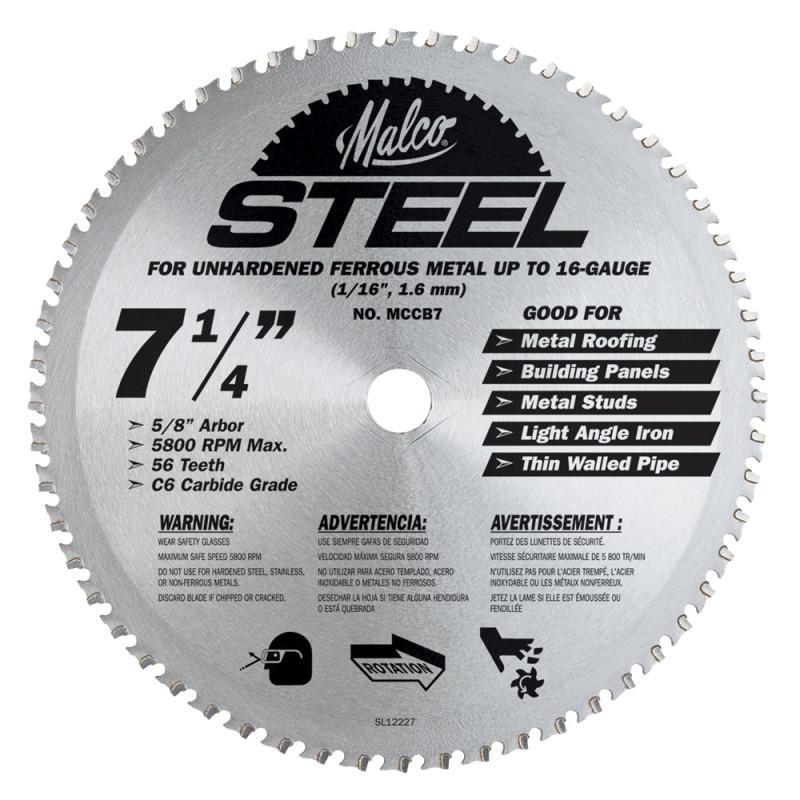 Диск пильный твердосплавный Malco Mccb7 диск пильный твердосплавный malco mccb7