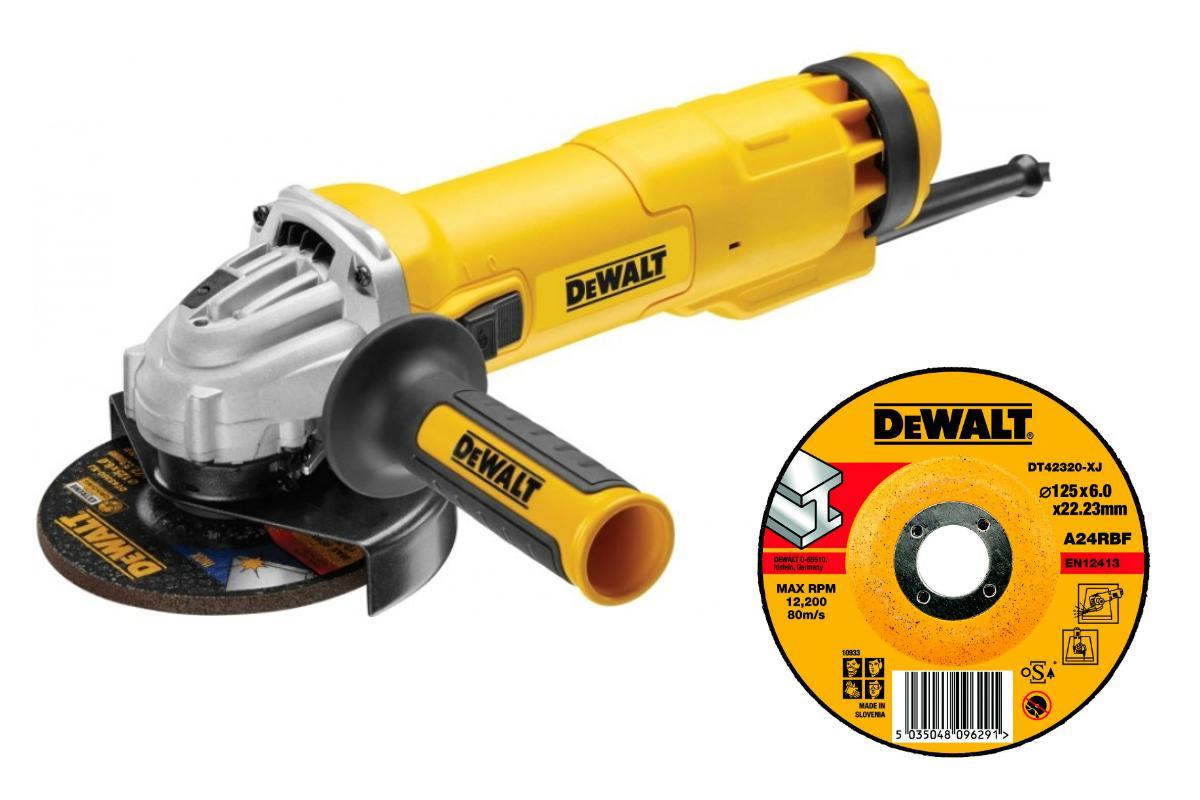 УШМ Dewalt Dwe4237qs +Круг зачистной dt42320xj ушм болгарка dewalt dwe4237qs