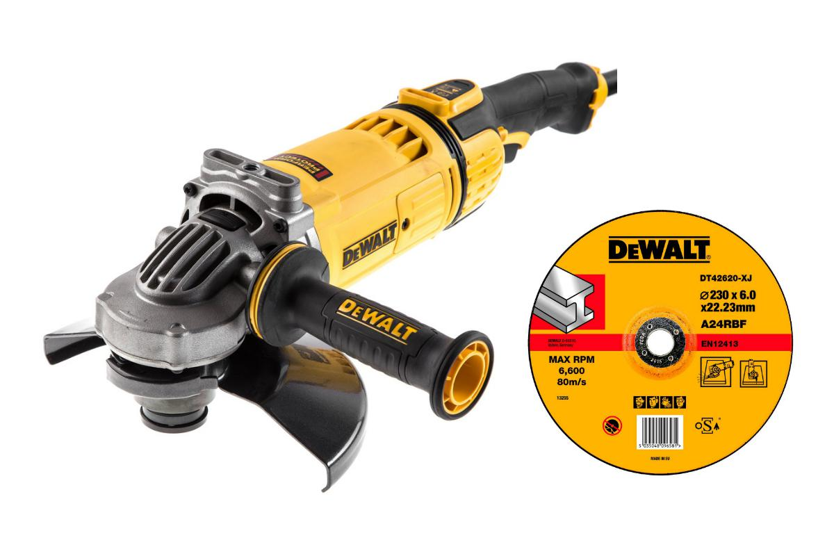 УШМ Dewalt Dwe4599 +Круг зачистной dt42620xj мультитул реноватор dewalt dwe 315 kt