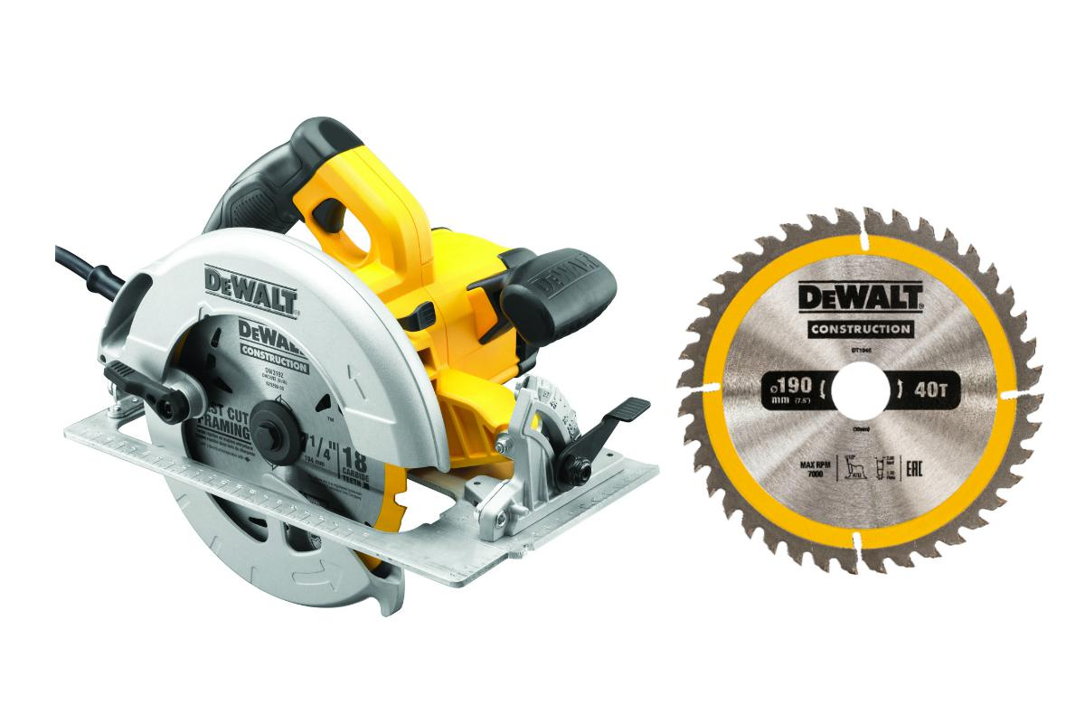 Пила циркулярная Dewalt Dwe575К +Диск пильный твердосплавный dt1945qz диск k
