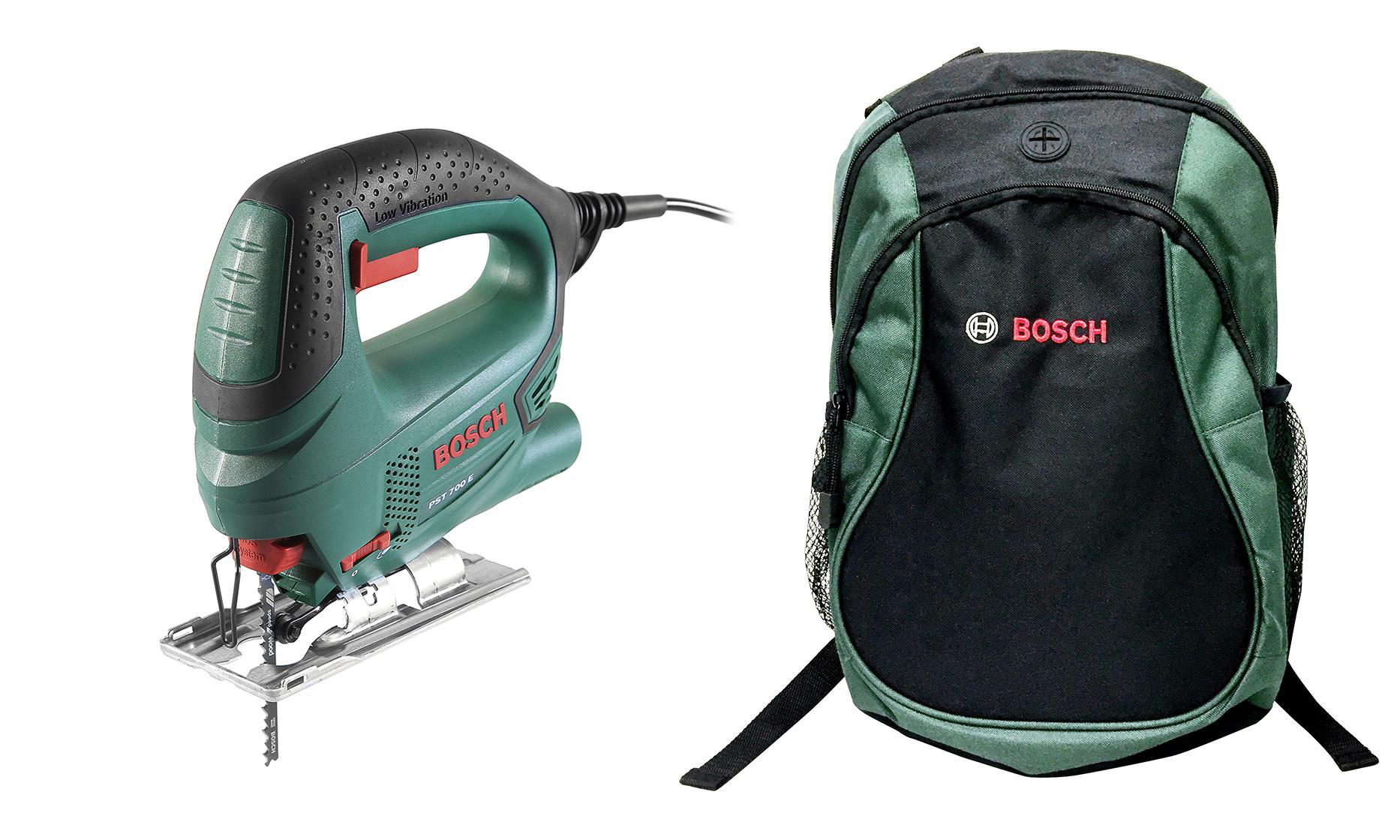 цена на Набор Bosch Лобзик pst 700 e compact (0.603.3a0.020) +Рюкзак green (1619g45200)