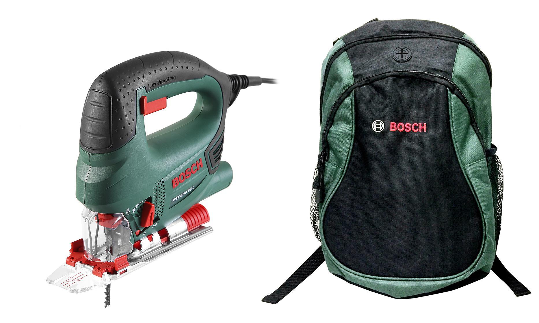 Набор Bosch Лобзик pst 800 pel compact (0.603.3a0.120) +Рюкзак green (1619g45200)