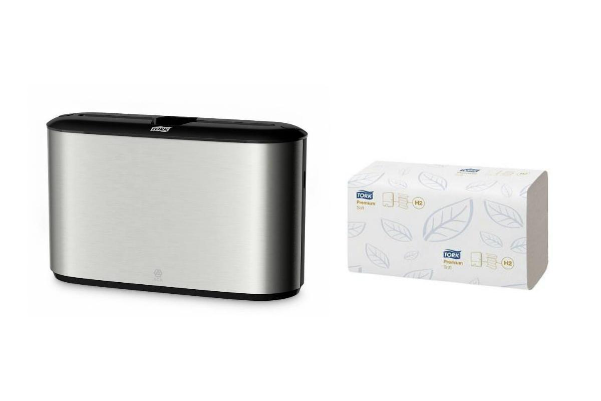 Набор Tork Диспенсер 460005 +Бумажные полотенца 100288