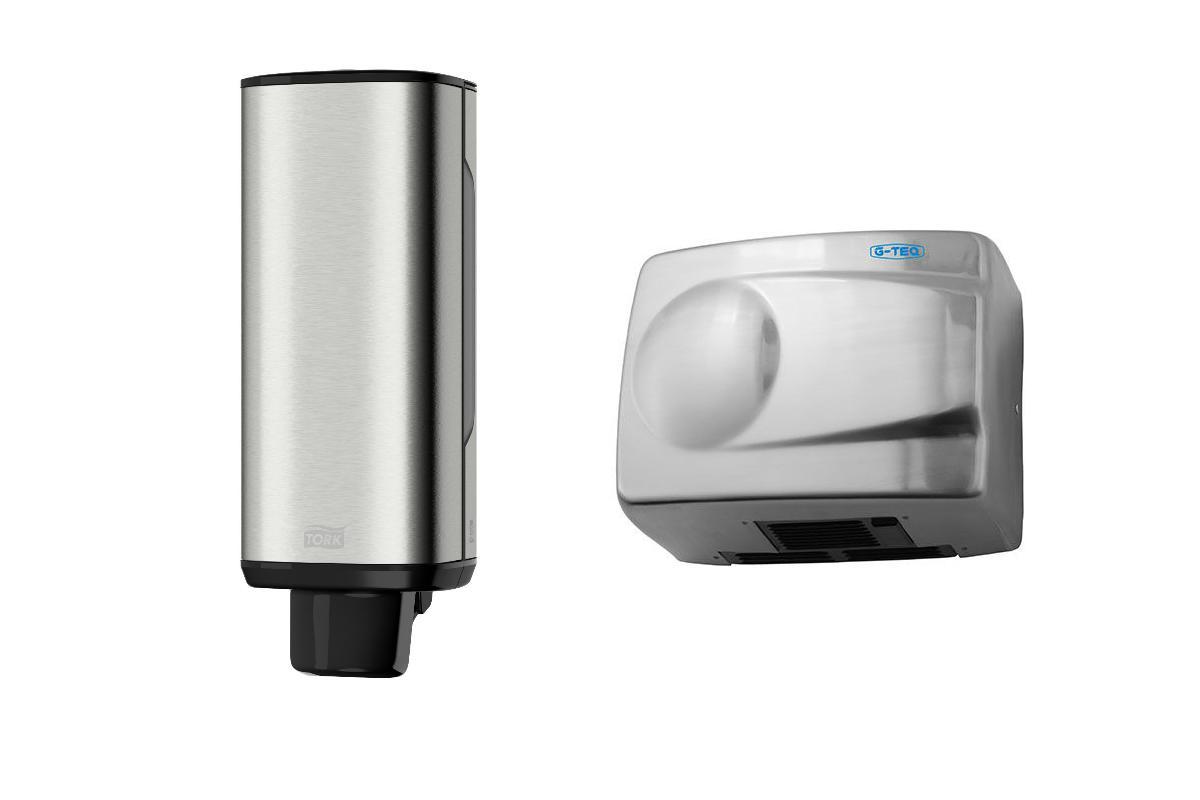 Набор G-teq Сушилка для рук 8828 mc +Дозатор для жидкого мыла 460010