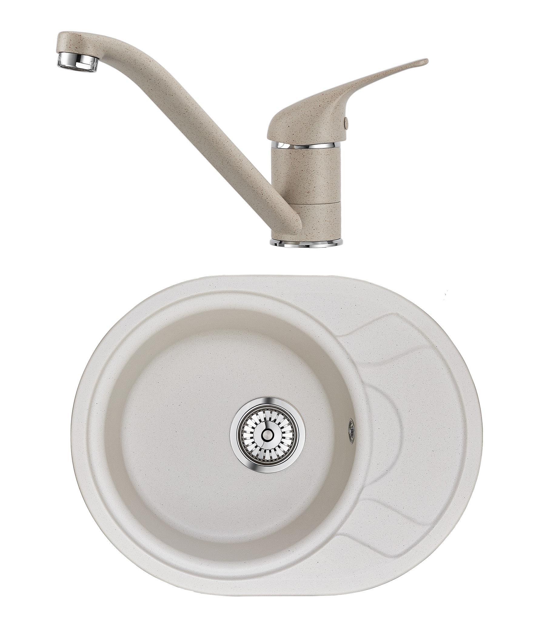 Набор Granula Смеситель gr-1023 +Мойка кухонная gr-5802 кухонная мойка granula 4201 классик