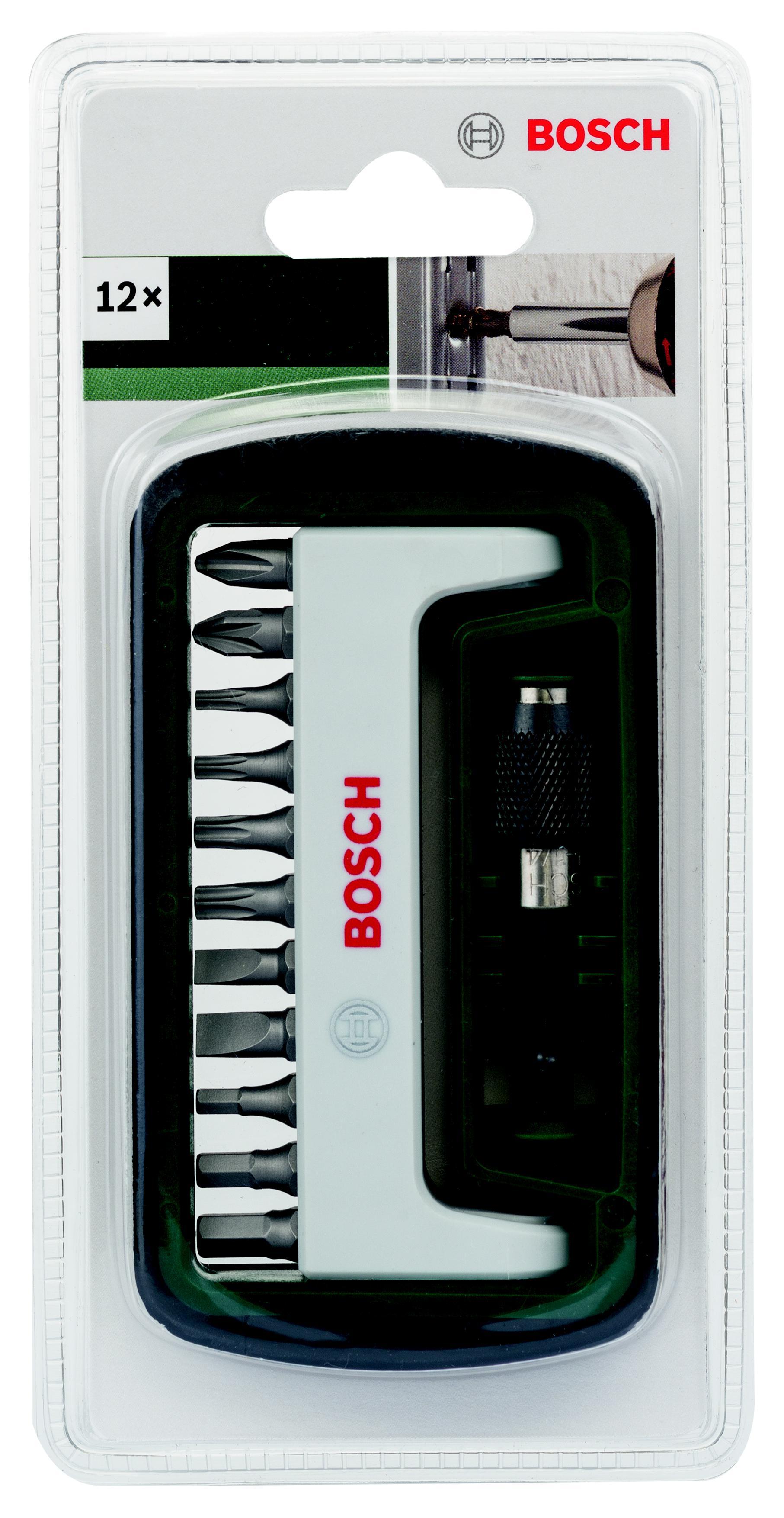 Набор бит Bosch 2608255995 набор бит bosch с быстрозажимным держателем 12 предметов 2608522126