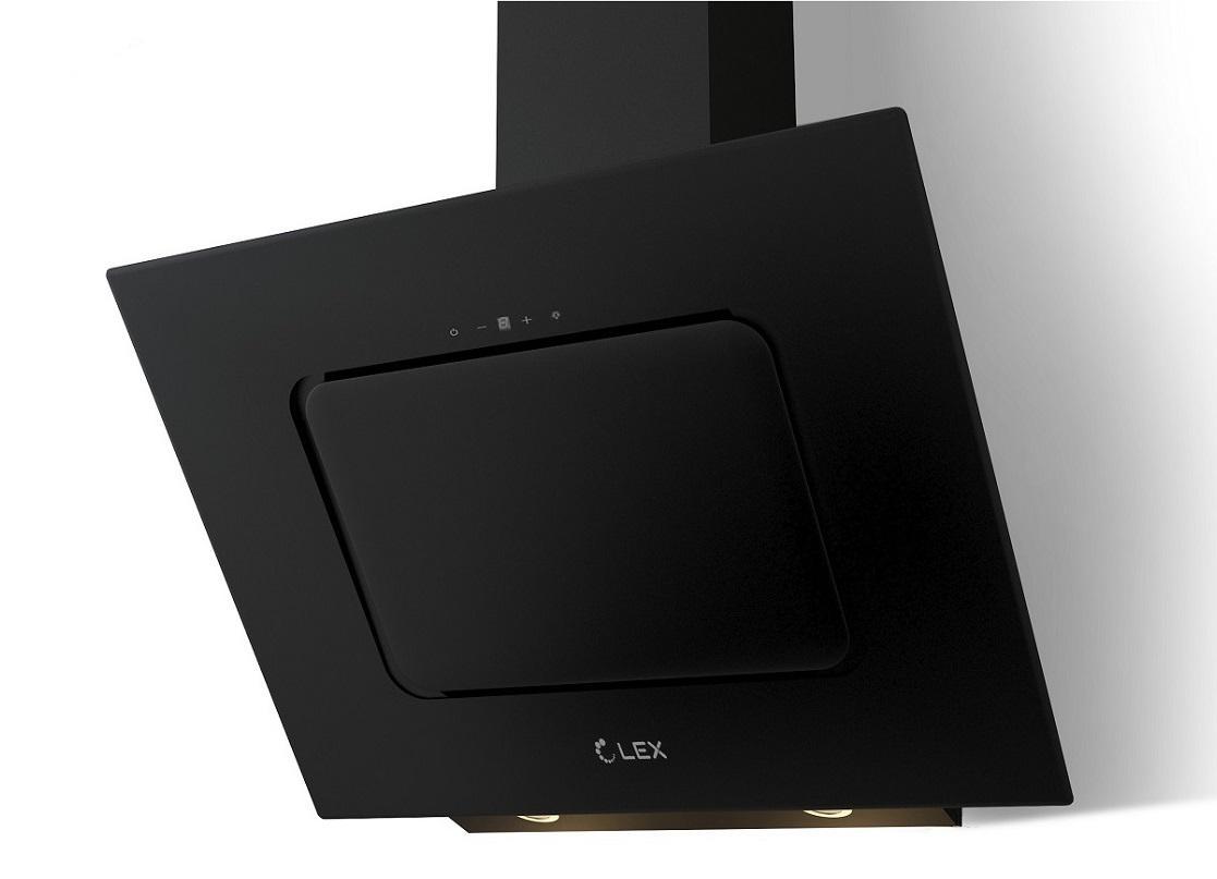 Вытяжка Lex Luna 600 black вытяжка lex luna 600 black 60см 680куб черн стекло