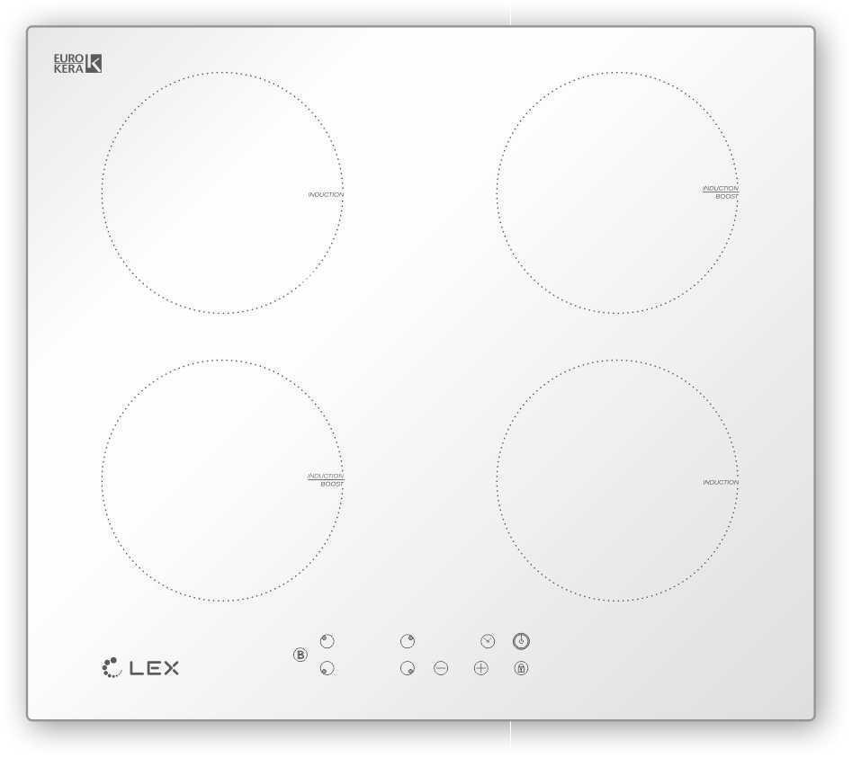 Панель варочная Lex Evi 640-1 wh индукционная варочная панель lex evi 640 1 индукционная независимая белый