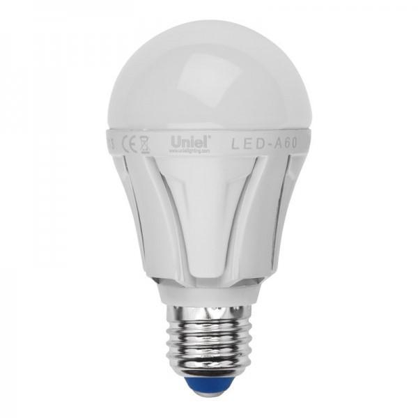 Лампа Uniel Led-a60-10w/spfr/e27/cl plp01wh