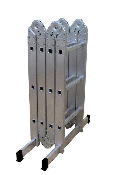 Фото - Лестница алюминиевая складная ВИХРЬ 73/5/1/14 лестница трансформер шарнирная профи 4 секции по 4 ступени 1 алюмет