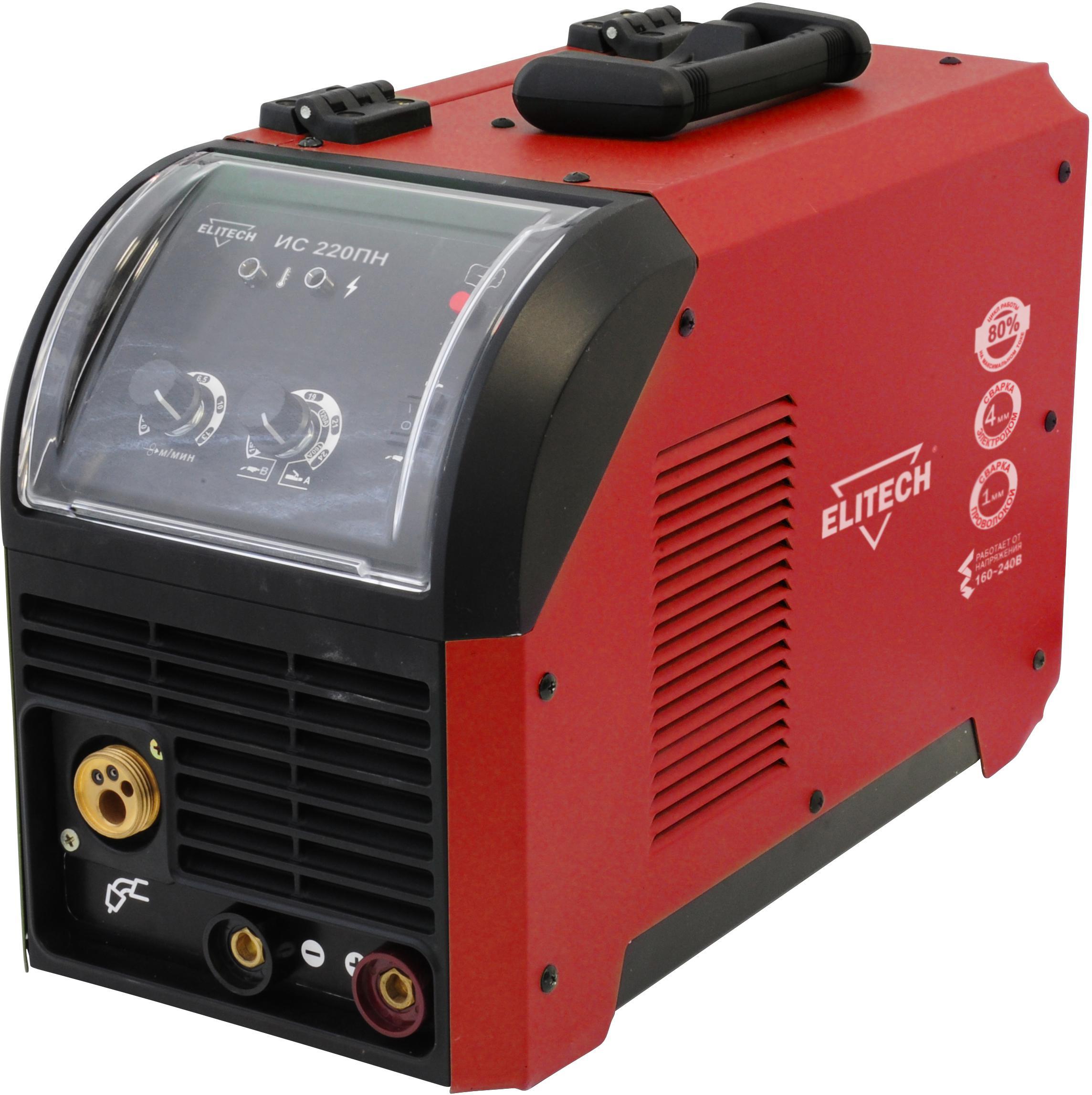 Инвертор Elitech ИС 220ПН (185107) инвертор полуавтомат elitech ис 250п